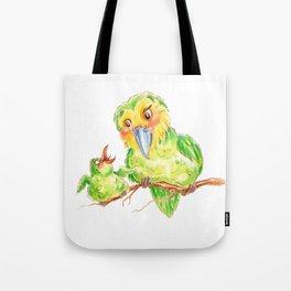 Kakapo and chick Tote Bag