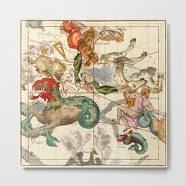 Cetus, Aquarius, Andromeda, Pegasus, Phoenix, Aries, Triangulum And Other Constellations Metal Print