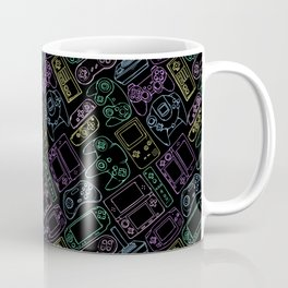 Video Game Controllers in Neon Colors Coffee Mug