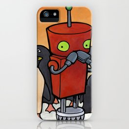 Robot - You Make Me Laugh iPhone Case