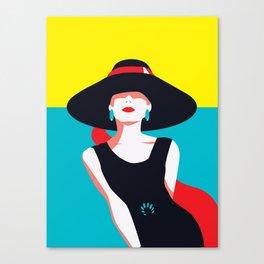 Audrey Vintage Fashion Print - Cindy Rose Studio Canvas Print