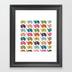 Elephant Life Framed Art Print