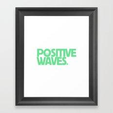 Positive Waves (Green) Framed Art Print
