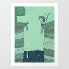 'Broken Bridge' (Colour) Art Print
