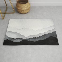 Night lanscape watercolor Rug