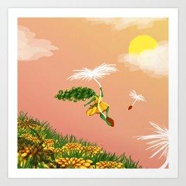 Dandelion Adventure Art Print