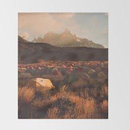 Patagonia Chile Morning Camp Throw Blanket