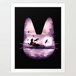 Midnight Delivery Art Print