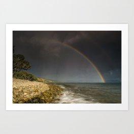 Summer storm Art Print
