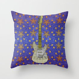 White Strat Throw Pillow