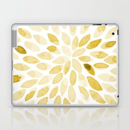 Watercolor brush strokes - yellow Laptop & iPad Skin