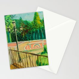 Parque del Retiro. gouache. Madrid. Stationery Cards