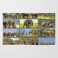 wildlife Area & Throw Rugs featuring Wildlife by Karl-Heinz Lüpke