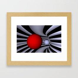 opart tunnel - landscape format -1- Framed Art Print