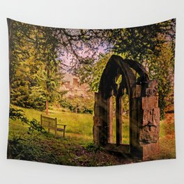 Manor house landscape. Wall Tapestry