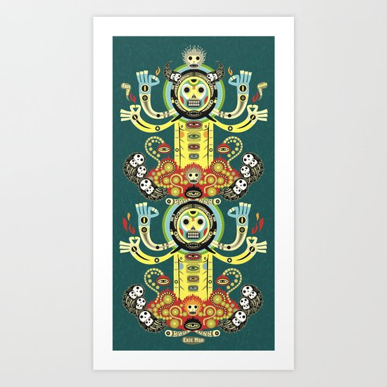 The Gate-Totem Art Print