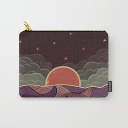 MOON WAVE NIGHT Carry-All Pouch