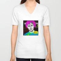 psycho V-neck T-shirts featuring Psycho by Matthäus Rojek
