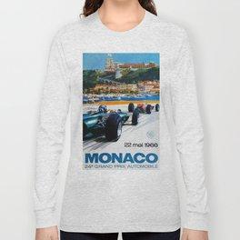 Gran Prix de Monaco, 1966, original vintage poster Long Sleeve T-shirt