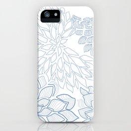 Vintage indigo floral decor iPhone Case