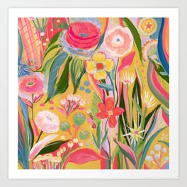 Cake flowers Art Print