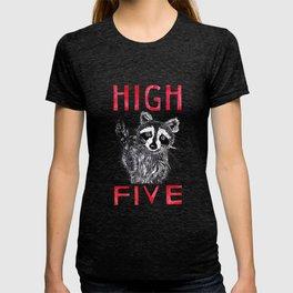Raccoon High Five  T-shirt