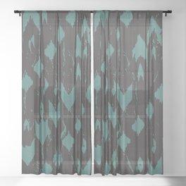 Splashing Brushes G&T Sheer Curtain