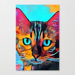 Cat 10 Canvas Print