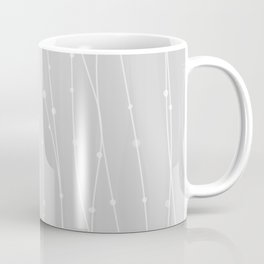 Grey Pattern With Lines And Dots Coffee Mug