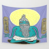 skate Wall Tapestries featuring Skate Guru by BummerHighs