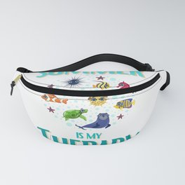 Summer and under the sea Is My Therapy Fanny Pack