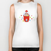 gumball Biker Tanks featuring Gumball Machine by elledeegee