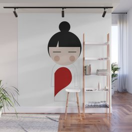 japan animation (in love..girl) Wall Mural