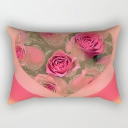 The roses in card (copyright Elize K) Rectangular Pillow