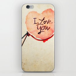 Love heart Message iPhone Skin