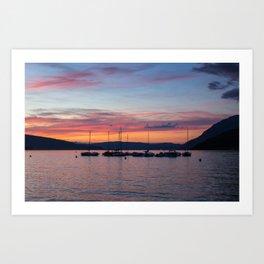 Sunset Lake Annecy Art Print