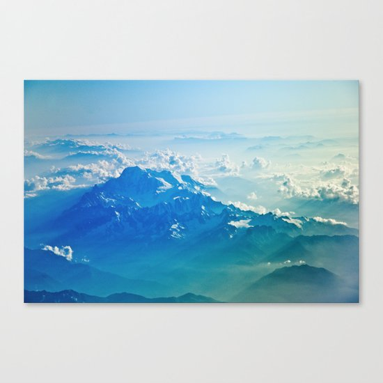 Mountain clouds 2 Canvas Print