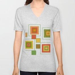 Retro Minimalist Square Design Unisex V-Neck