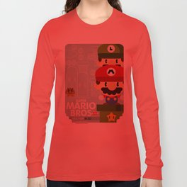 mario bros 2 fan art Long Sleeve T-shirt