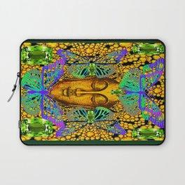 GreenPeridot Gems Butterfly Love in Purple-Blue Laptop Sleeve