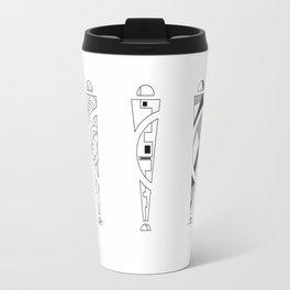 trio. art nouveau black / white mix fill Travel Mug