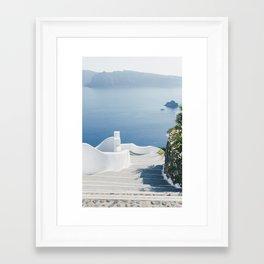 Santorini Stairs I (Vertical) Framed Art Print
