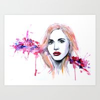 lydia martin Art Prints featuring Lydia Martin by Sterekism
