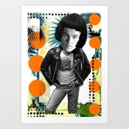 COLLAGE: Leo Di Caprio Ramone Art Print