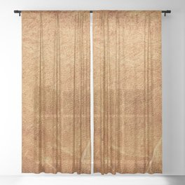 Vintage natural brown leather texture background Sheer Curtain