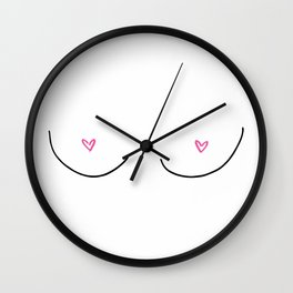 breast friend Wall Clock