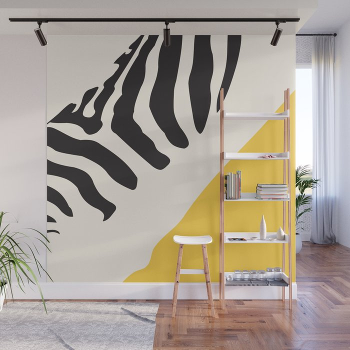 Zebra Abstract Wall Mural