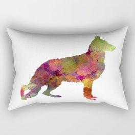German Sherpherd dog 01 watercolor Rectangular Pillow