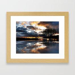 Del Mar Point Sunset Framed Art Print