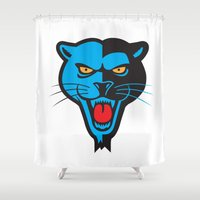 panther Shower Curtains featuring Panther by Jhonatan Medina